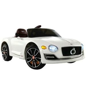Bentley EXP12 Licensed Kids Ride On Car | White