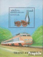 Laos Block 159 (compleet Editie) postfris MNH 1997 Stoomlocomotieven
