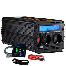 Convertisseur 2500W 5000W DC 12V AC 220V pure sinus onduleur LCD multifonction