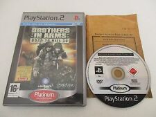 BROTHERS IN ARMS ROAD TO HILL 30 SONY PLAYSTATION 2 PS2 PAL FR PLATINUM COMPLET