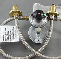 NEW Caravan LPG Gas Bottle 2 Stage Regulator 2 Cylinders Camper Trailer  160MJ