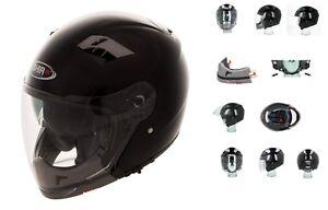 Casque Helmet moto / Scooter SHIRO SH414 Transformable Noir Brillant