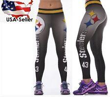 Pittsburgh Steelers Leggings 3D Printed High Waist NFL Team Yoga Gym Pilates S/M
