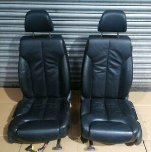 VW Passat B6 2005-2010 Front Left Passenger + Right Driver Black Leather Seats