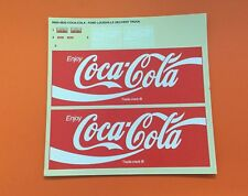AMT 1/25 Ford Louisville Line Coca Cola Short Hauler Truck Decal Sheet 1048