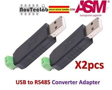 2pcs USB to RS485 485 Converter Adapter
