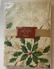 "Lenox Holiday Border Christmas Table Cloth Fabric Tablecloth 70"" Round  New NIP"