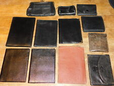 LOT PORTE-monnaie CUIR holder wallet document LEATHER Brieftasche LEDER vintage