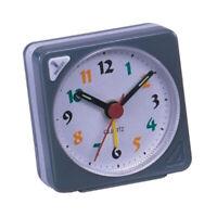 Mini Travel Alarm Clock Gradient Sound Desktop Clock Snooze With Light Gray