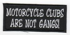 Motorcycle Clubs Are Not Gangs! biker MC PATCH