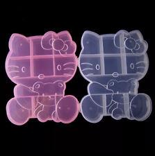 Hello Kitty Clear Plastic Storage Box Container Jewelry Organizer