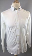 Jaeger Mens Size S Small White Oxford Long Sleeves Shirt Buttons Down VGC