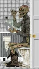 Halloween Skeleton Zombie Toilet Door Banner Cover Entrance Party Decoration