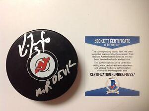 Ken Daneyko Signed Autographed New Jersey Devils Hockey Puck Beckett BAS COA a