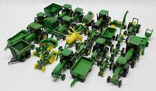 Lot Of 30 1/64 Scale Ertl John Deere Tractors & Implements