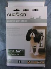 NIB Petsafe Guardian White Plastic Pet Door Small for Pets up to 15  pounds