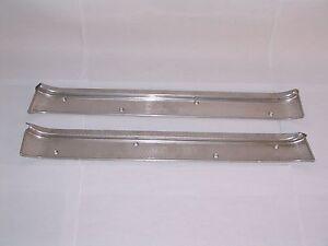 NOS PAIR Rear Door Sill Scuff Plate 1955 1956 Packard Clipper 4-door models