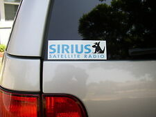 "4x Sirius Satellite Radio Vinyl Decal Bumper Sticker logo car truck window 6""x2"""