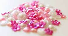 15g Pink & White Colour Flatback Pearl Mix Set Decoden Embellishments Craft - UK