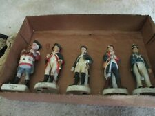Five Lefton Soldier Figurines - Various Eras