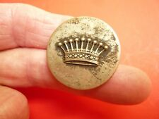 Antique Military? Metal BUTTON Queen's Crown