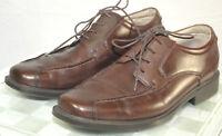 FLORSHEIM Comfortech Men's 10 M Brown Leather Square Bicycle Toe Oxfords Shoes