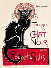 Chat Noir French Black Cat Shabby Chic Art Deco Kitchen Novelty Fridge Magnet