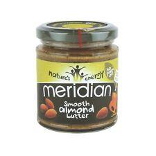 Meridian Smooth Almond Butter 170g No Salt Gluten Free Vegan
