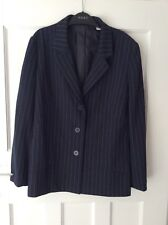 Next Size 10 Ladies Blue Pin Stripe Suit Jacket