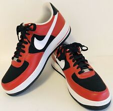 NIKE Air Force 1 '82 Low Top Shoes Mens 13 Varsity Red White Black #315122-600