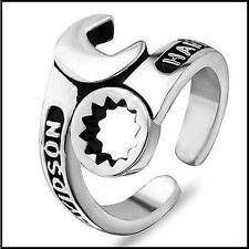 anello acciaio ring harley davidson chiave inglese emblema logo bar&shield