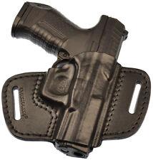 Walther P99 / AS / QA waist belt (OWB) gun holster, genuine leather RH #1 black