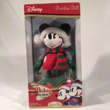Disney Porcelain Doll Original Mickey Mouse Holiday Brass Key Keepsakes