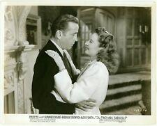 "HUMPHREY BOGART BARBARA STANWYCK ORIGINAL PHOTO ""THE TWO MRS CARROLLS"" 1947"