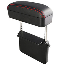 PU Leather Car Adjustable Side Elbow Support Armrest Box Holder With Data Line