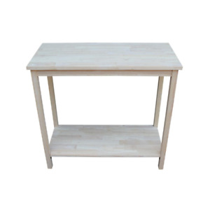 Portman 31 In. Unfinished Wood Rectangle Console Table