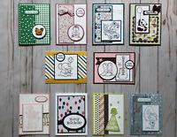 10 Handmade Kids/Teens Birthday greeting cards & envelopes Stampin' Up! + more