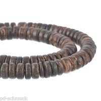 PD:4Strang Braun Kokosscheiben Kokosperlen Kokosnuss Perlen 8mm