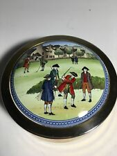 Awesome Halcyon Days Paperweight featuring Colonial era Golfers