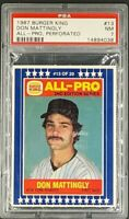 1987 Burger King All Pro #13 Don Mattingly PSA 7 NM (PSA 8 is the highest Grade)