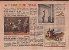 Swiss Guard Garde pontificale Cohors Helvetica Pontificia Rome 1949 ILLUSTRATION