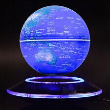 Xmas Gift Art Decoration Magnetic Levitation Floating Rotating Globe Night Light