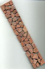 Fliese Bordüre Mosaik Marmor Bruchstein RossoVerona