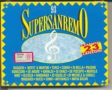 MUSICASSETTA SUPERSANREMO 93 BERTE' MIA MARTINI PAUSINI RUGGERI ETC.