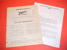 1948 1949 FORD DELUXE CUSTOM CONVERTIBLE COUPE ZENITH AM RADIO SERVICE MANUAL