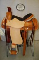 """17"""" G.W. CRATE RANCH ROPING SADDLE NEW FREE SHIP TRAIL MADE IN ALABAMA USA"""