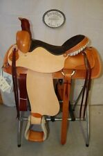 "17"" G.W. CRATE RANCH ROPING SADDLE NEW FREE SHIP TRAIL MADE IN ALABAMA USA"