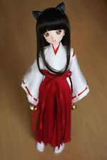 3pc Wihte&Red Inuyasha Kimono Miko Anime Suit Outfit 1/6 SD DOLL BJD Dollfie