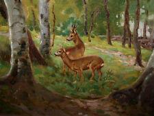 Josef BRUNNER (1884-1962) Rehe im Wald.