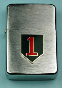 1st INFANTRY DIVISION ARMY WIND PROOF PREMIUM LIGHTER -  GIFT BOX  ARMY SBC 10